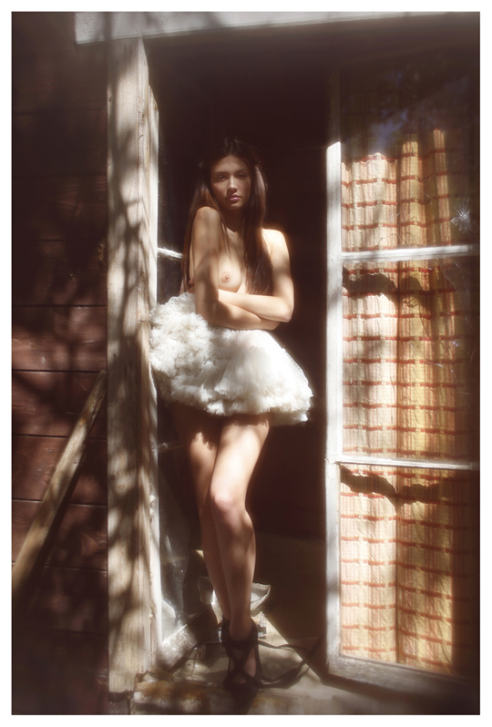 【外人】ブロンドヘアのガチ天使が魅せるプライベートセミヌードポルノ画像 1510
