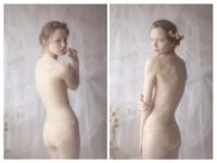 【外人】ブロンドヘアのガチ天使が魅せるプライベートセミヌードポルノ画像