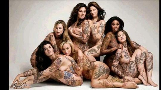【外人】美しい素肌にタトゥーを施す美女達のポルノ画像 2211