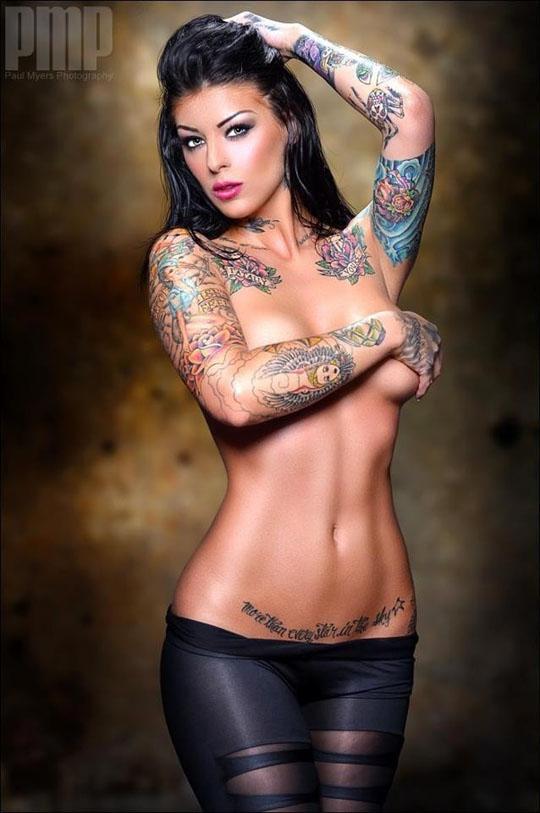 【外人】美しい素肌にタトゥーを施す美女達のポルノ画像 230