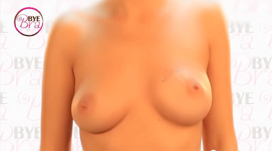 【外人】ブラがなくてもシールでおっぱいの形を整えるポルノ画像 656