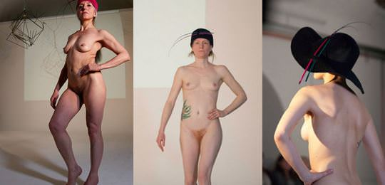 【外人】全裸に帽子だけの人妻モデルのファッションショーのポルノ画像 1495