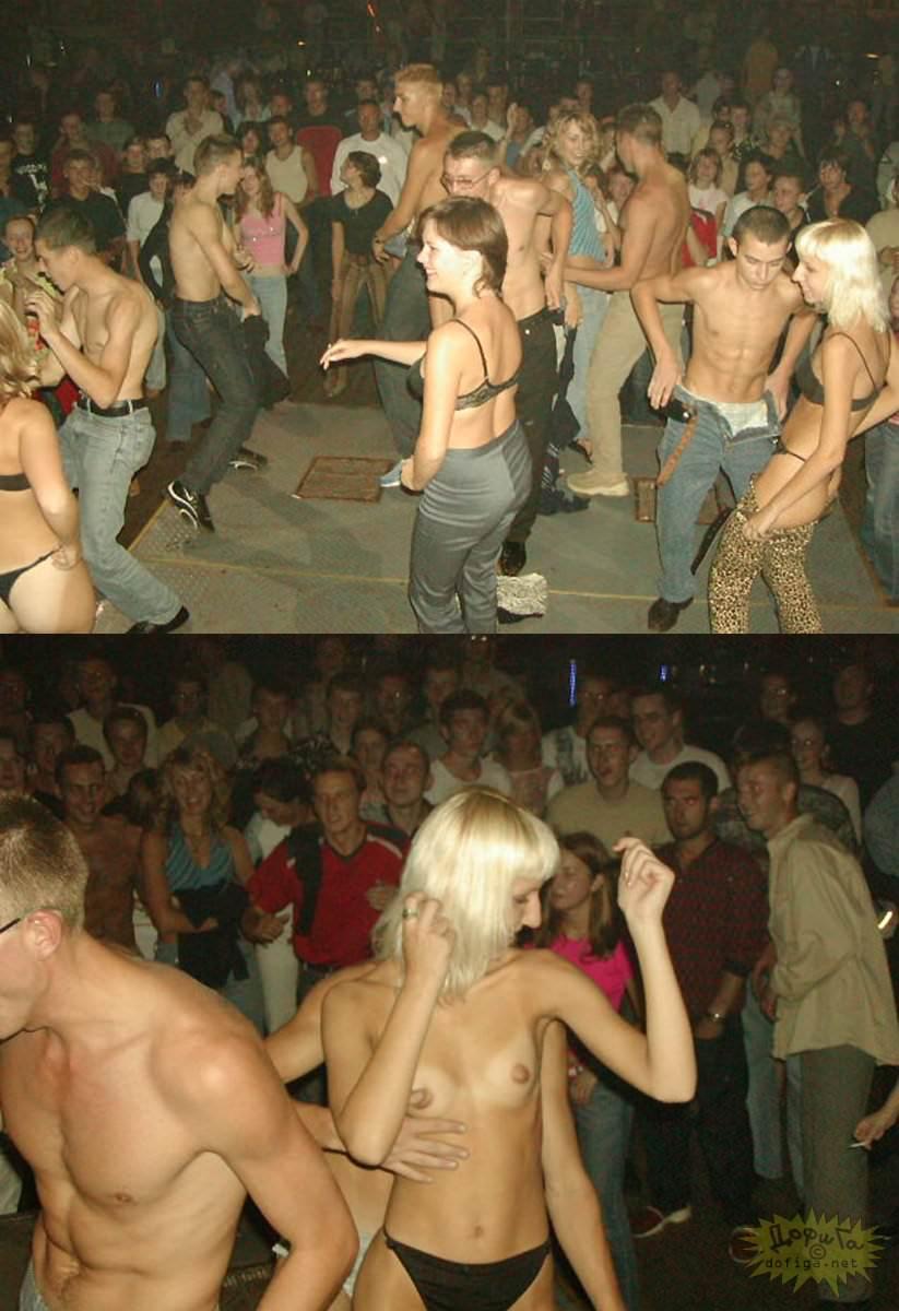【外人】クラブでアゲアゲになり過ぎて裸になっちゃうウクライナの素人女子たちのポルノ画像 15106