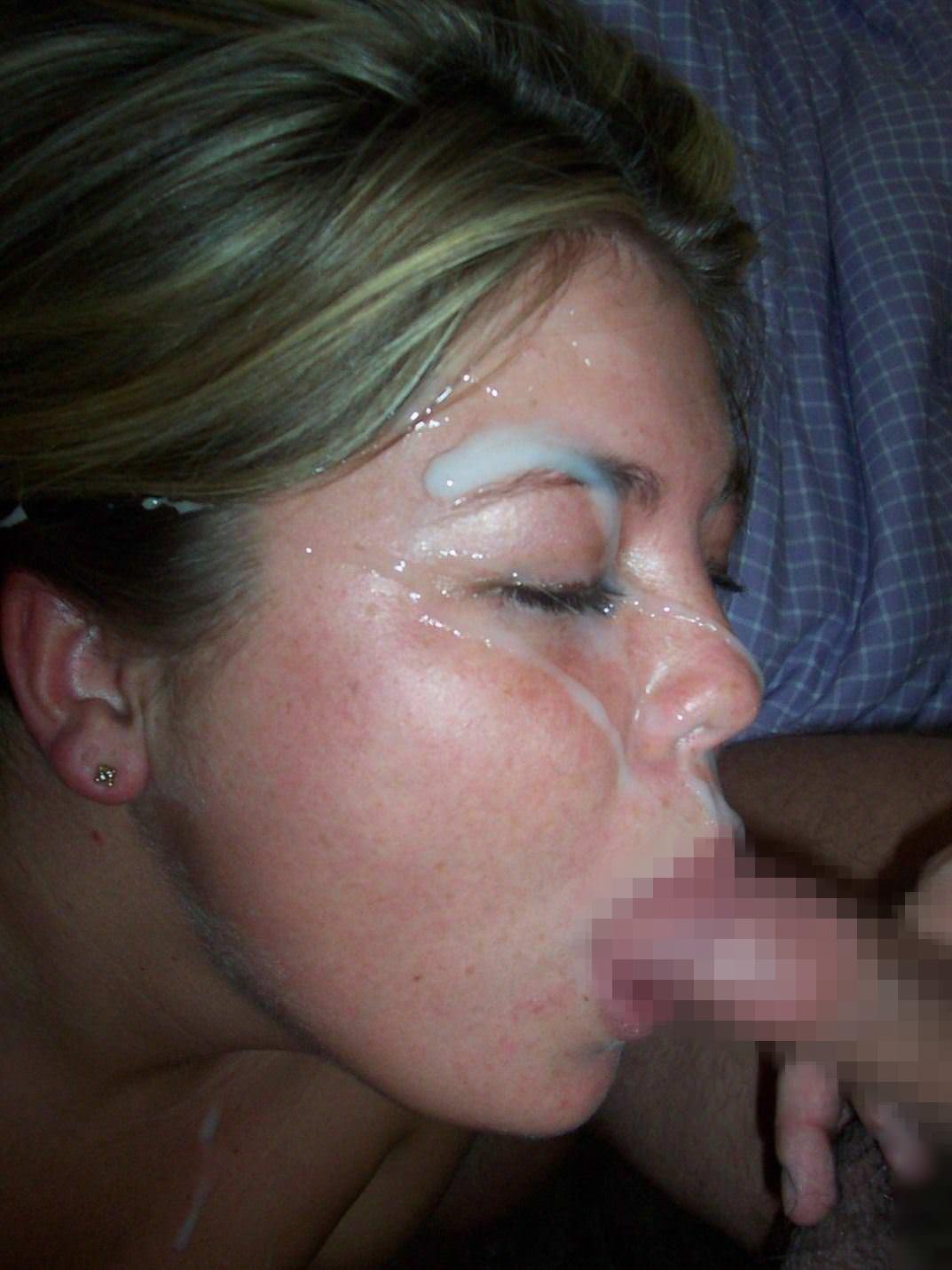 【外人】たっぷり白濁ザーメンをぶっかけられる素人の顔射ポルノ画像 2633