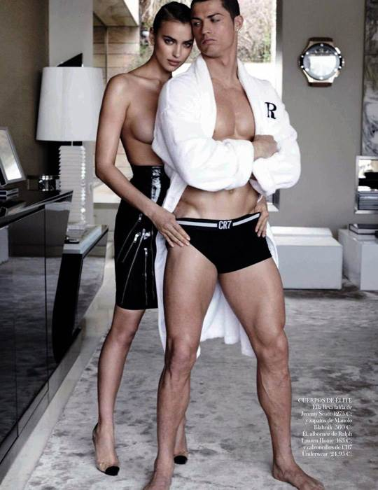 【外人】クリスティアーノ・ロナウド(Cristiano Ronaldo)のとんでもなく美人な恋人イリーナ・シェイク(Irina Shayk)の巨乳おっぱいポルノ画像 2832