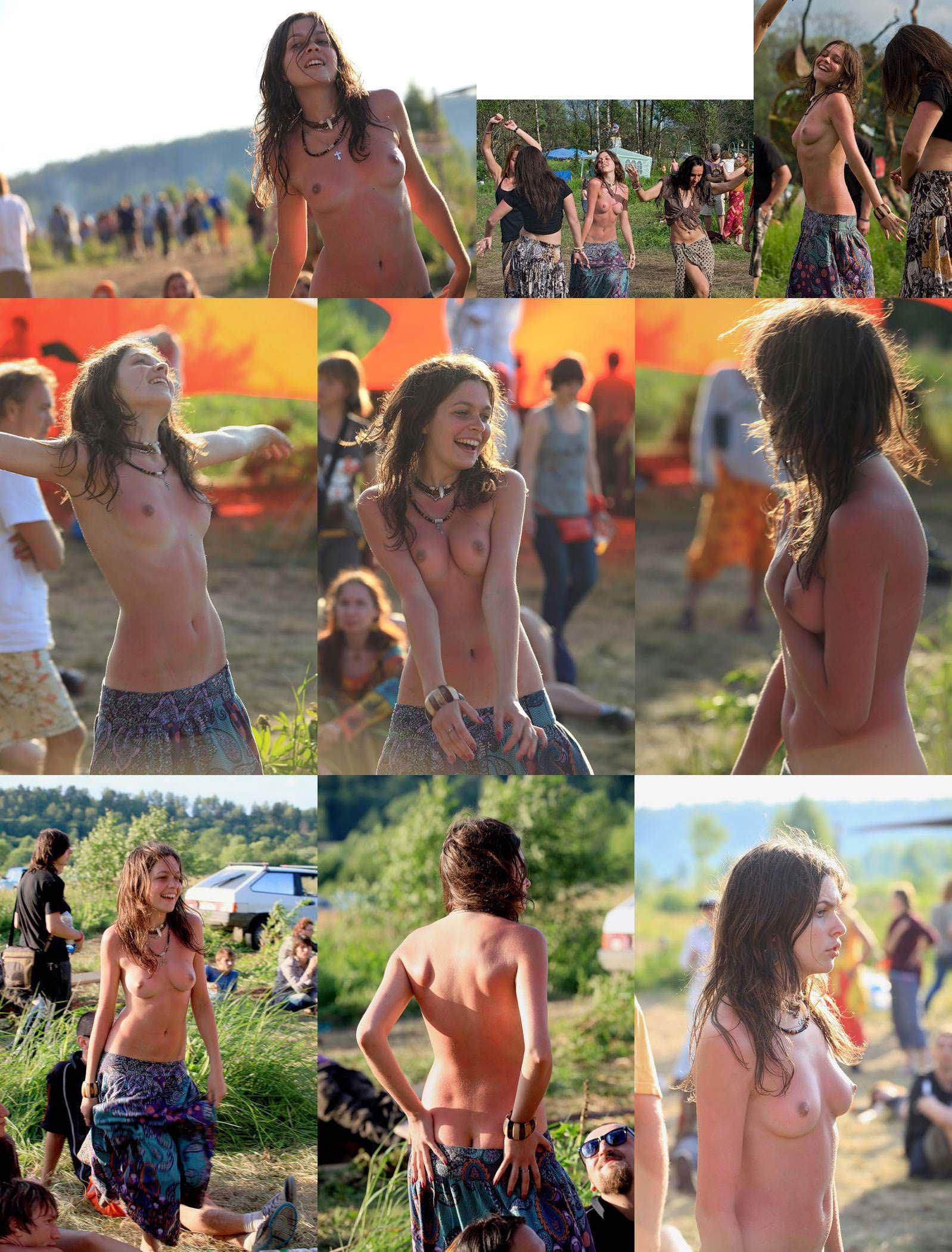 【外人】みんな当たり前のように裸で外をうろつく露出お祭りのポルノ画像 32109
