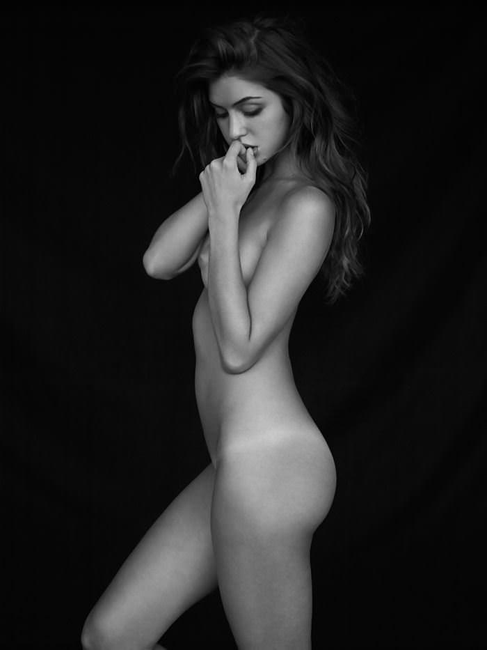 【外人】写真家クリス·新谷によるJehane Gigi Paris(ジハーン ジジ パリス)のモノクロセクシーヌードポルノ画像 6250