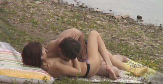 【外人】素人カップルが自然の中で青姦セクロスしてる盗撮ポルノ画像 664