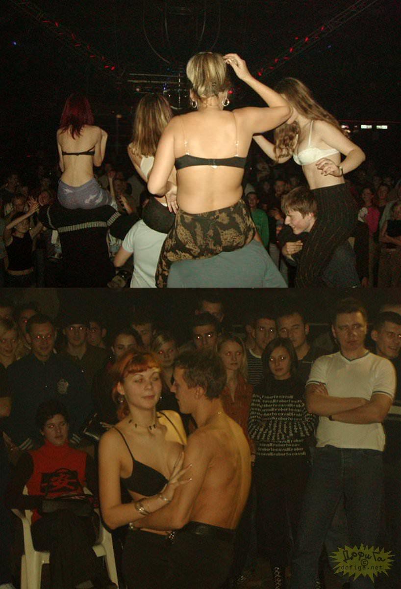 【外人】クラブでアゲアゲになり過ぎて裸になっちゃうウクライナの素人女子たちのポルノ画像 7128