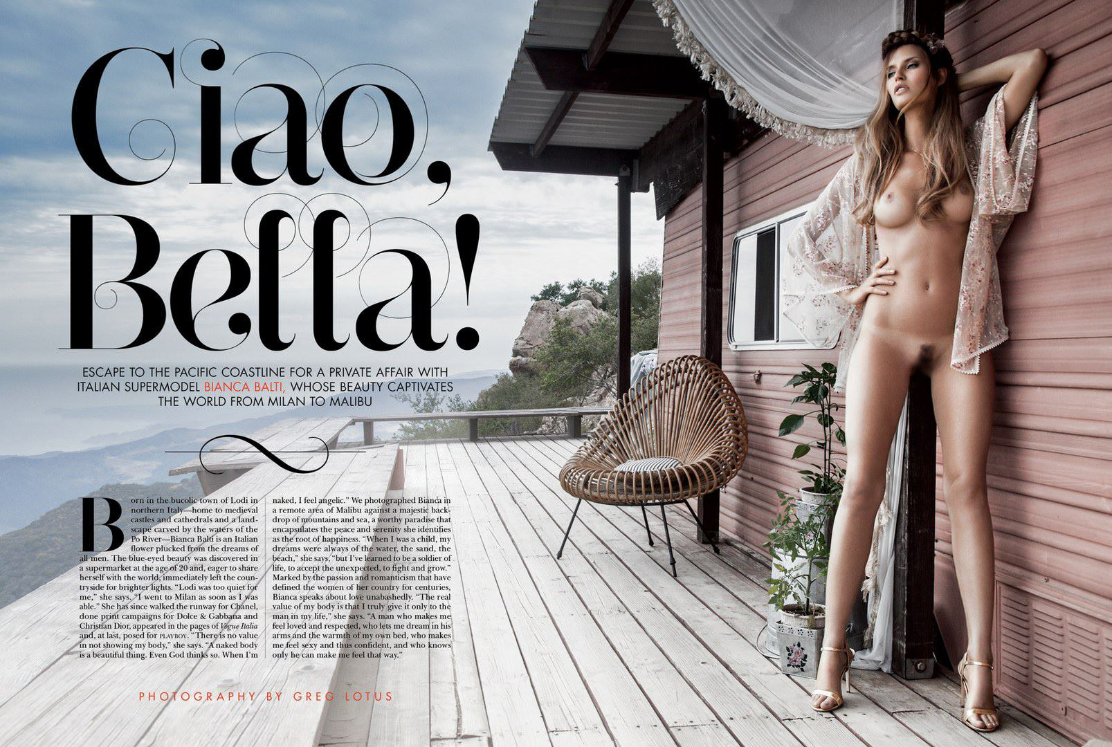 【外人】プレイボーイに掲載のビアンカ・バルティ(Bianca Balti)の芸術的露出フルヌードのポルノ画像 7135