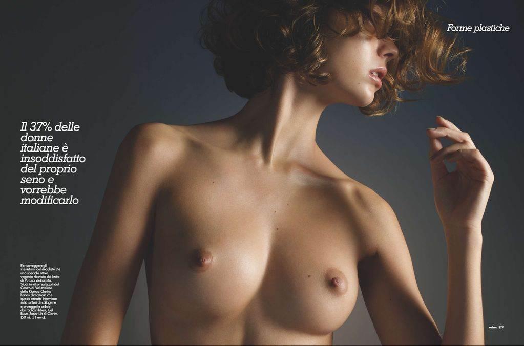 【外人】フランス人スーパーモデルのモルガン・デュブレ(Morgane Dubled)がファッション誌で乳首をさらるおっぱいポルノ画像 7139
