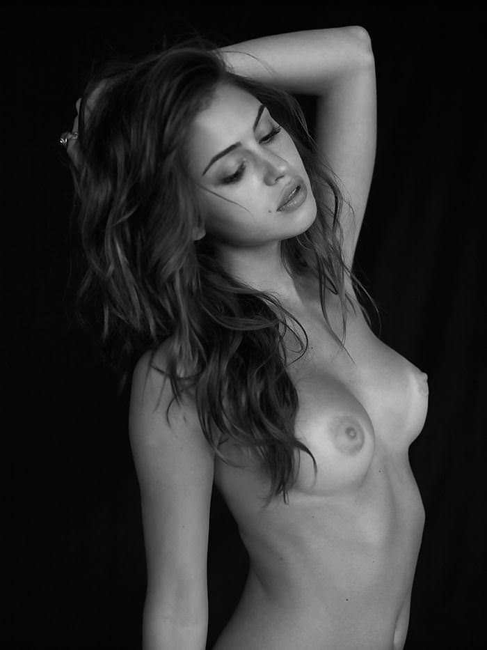 【外人】写真家クリス·新谷によるJehane Gigi Paris(ジハーン ジジ パリス)のモノクロセクシーヌードポルノ画像 7241