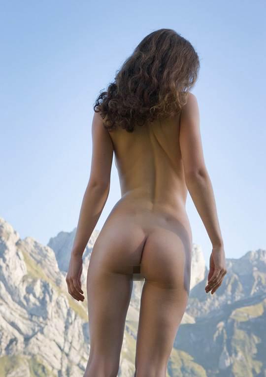 【外人】ドイツ人スーザン(Susann)がりんごやラベンダーと戯れる野外露出のフルヌードポルノ画像 8125