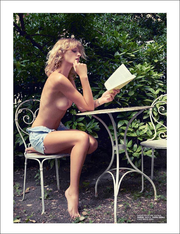 【外人】ベルギー出身ファニー・フランソワ(Fanny Francois)雑誌で乳首を許可したポルノ画像 9207
