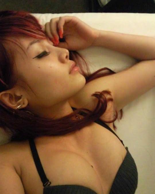 【外人】風俗サウナ店で働く中国人の巨乳素人少女の自撮りおっぱいが激エロなポルノ画像 11128