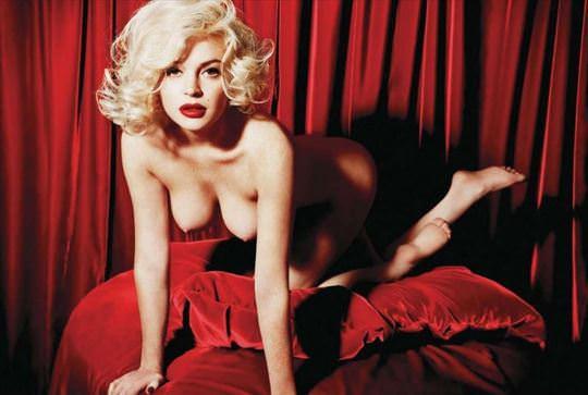 【外人】リンジーローハン(Lindsay Lohan)がマリリン・モンロー風セクシーポーズでおっぱい晒すポルノ画像 1193