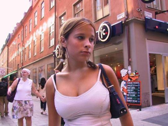 【外人】可愛いヨーロッパの素人女性を街撮りしたポルノ画像 3116
