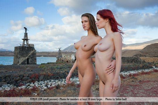 【外人】赤毛巨乳モデルのアリエル(Ariel)が友人誘っておまんこ開放ポルノ画像 3312