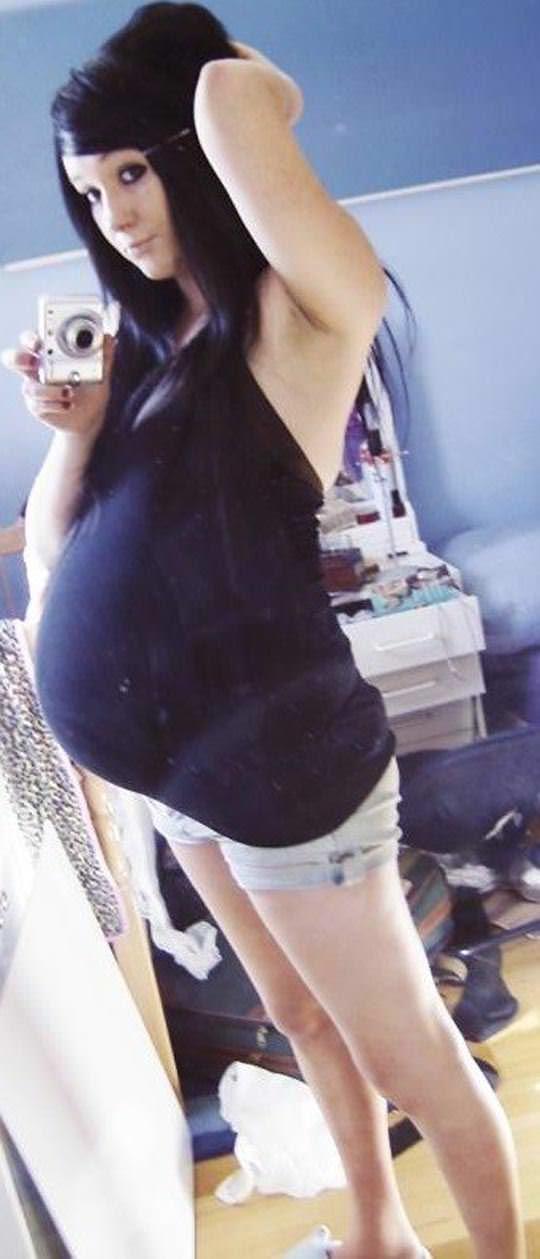 【外人】10代で妊娠してしまった若人妻たちの自画撮りお腹の素人ポルノ画像 3424
