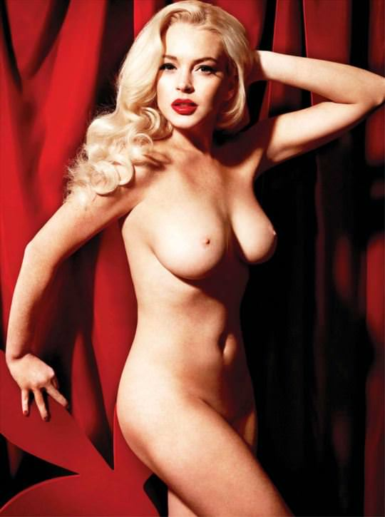 【外人】リンジーローハン(Lindsay Lohan)がマリリン・モンロー風セクシーポーズでおっぱい晒すポルノ画像 4105