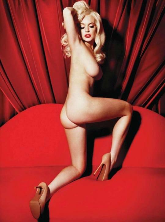 【外人】リンジーローハン(Lindsay Lohan)がマリリン・モンロー風セクシーポーズでおっぱい晒すポルノ画像 579