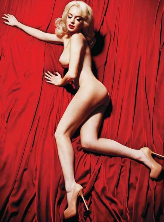 【外人】リンジーローハン(Lindsay Lohan)がマリリン・モンロー風セクシーポーズでおっぱい晒すポルノ画像 669