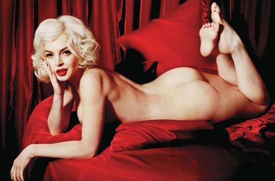 【外人】リンジーローハン(Lindsay Lohan)がマリリン・モンロー風セクシーポーズでおっぱい晒すポルノ画像 953