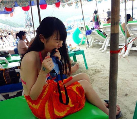 【外人】中国人ブロガーの美少女の旅行中の素人ポルノ画像 12121