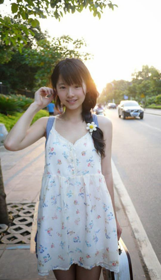 【外人】中国人の超絶美少女ひよこちゃんが童顔ロリ顔過ぎて26歳に見えないポルノ画像 1444