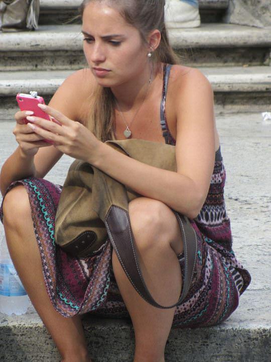 【外人】ローマで街撮りされちゃった女の子たちの着衣エロポルノ画像 153