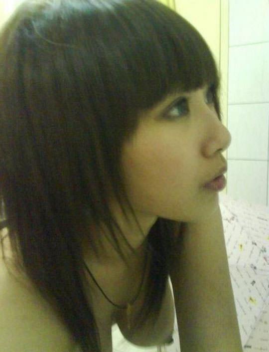 【外人】台湾人の激カワ素人娘が自慢の巨乳おっぱいを自画撮りしてネットうpのポルノ画像 224