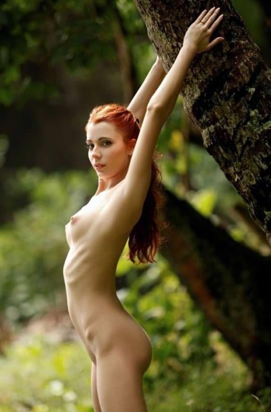 【外人】綺麗な赤毛を身に纏った美乳おっぱいヌードのポルノ画像 582
