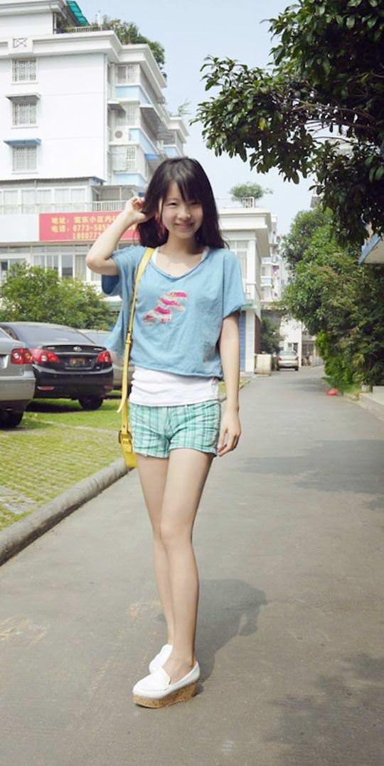 【外人】中国人の超絶美少女ひよこちゃんが童顔ロリ顔過ぎて26歳に見えないポルノ画像 948