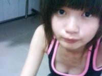 【外人】台湾ロリ娘が顔に似合わず巨乳おっぱいの谷間を自撮りするポルノ画像