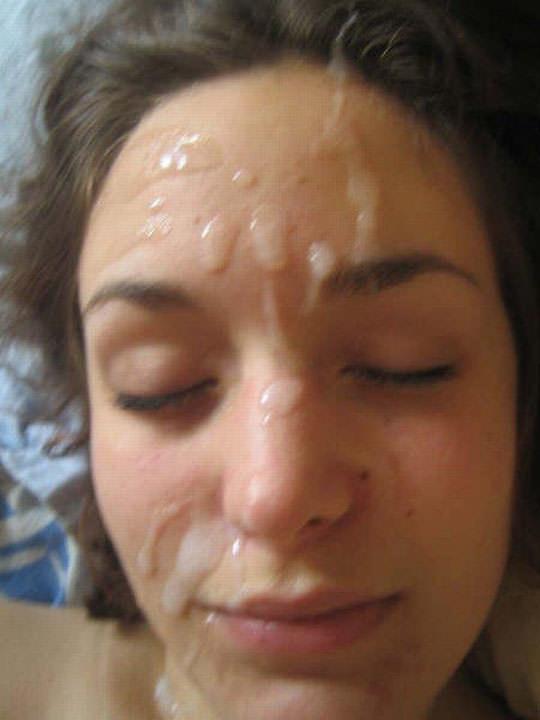 【外人】洋ティーンの素人娘の顔面にザーメンぶっかけた顔射ポルノ画像 112