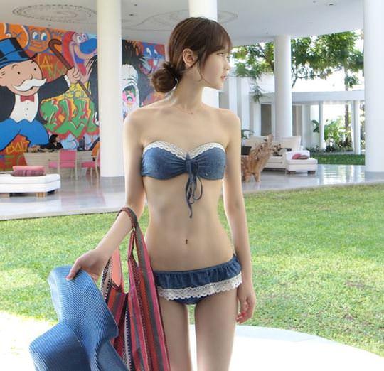 【外人】整形大国の韓国ならではの全身整形美少女の水着グラビアポルノ画像 1239