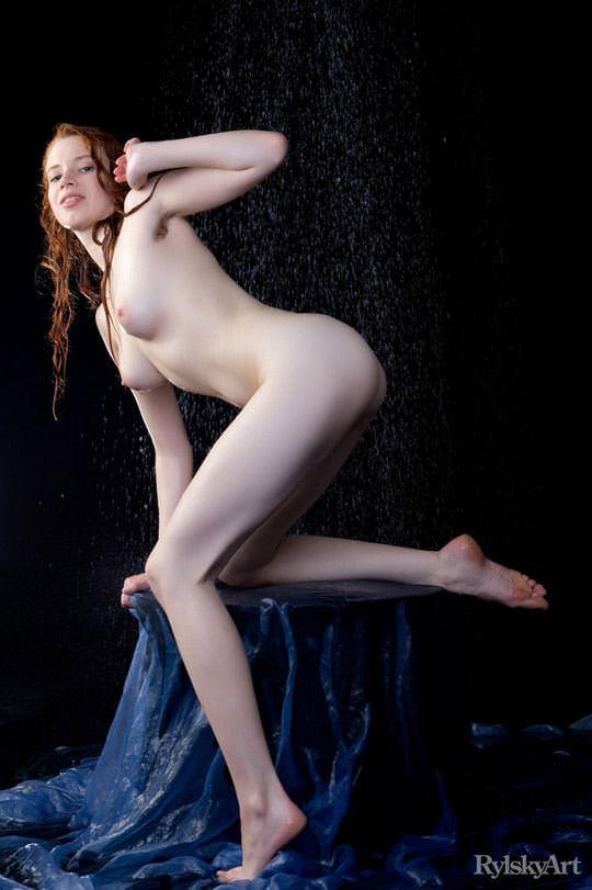 【外人】赤毛のロシアンヌードモデルのジリアン(Gillian)のマン毛とワキ毛のポルノ画像 1298