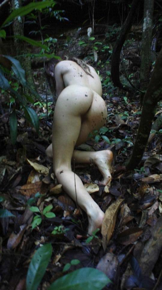【外人】大自然でヌードグラビア撮影する妖精な白人美女達の野外露出ポルノ画像 1831