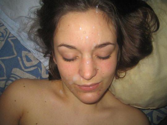【外人】洋ティーンの素人娘の顔面にザーメンぶっかけた顔射ポルノ画像 192