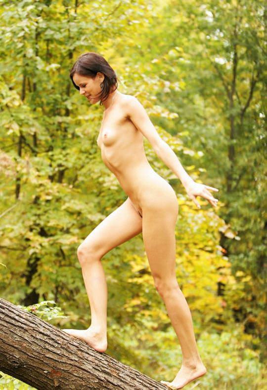 【外人】大自然でヌードグラビア撮影する妖精な白人美女達の野外露出ポルノ画像 2028