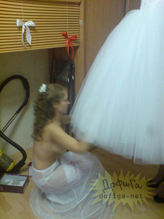 【外人】海外の美人花嫁がドレスでおっぱいポロリしてるポルノ画像 2127