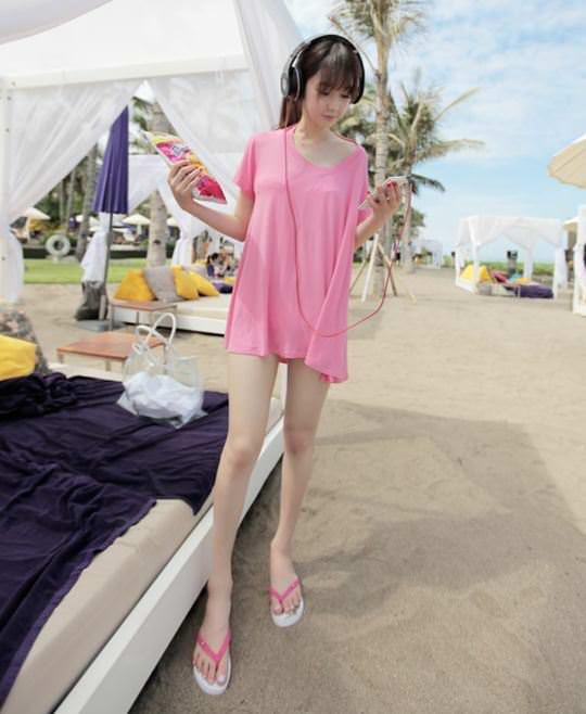 【外人】整形大国の韓国ならではの全身整形美少女の水着グラビアポルノ画像 2614