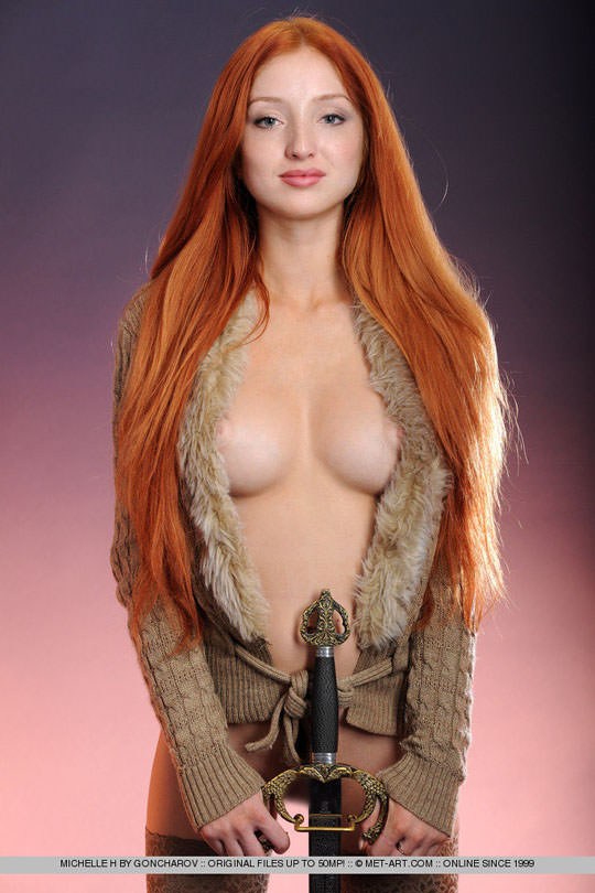 【外人】お人形顔の赤毛美女ミシェル(Michelle H)のおまんこM字開脚ポルノ画像 27