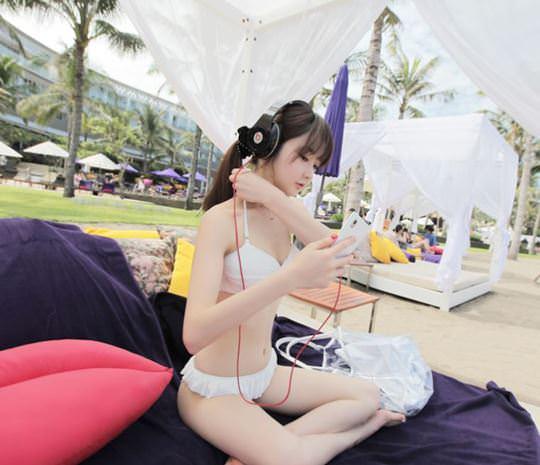 【外人】整形大国の韓国ならではの全身整形美少女の水着グラビアポルノ画像 2913