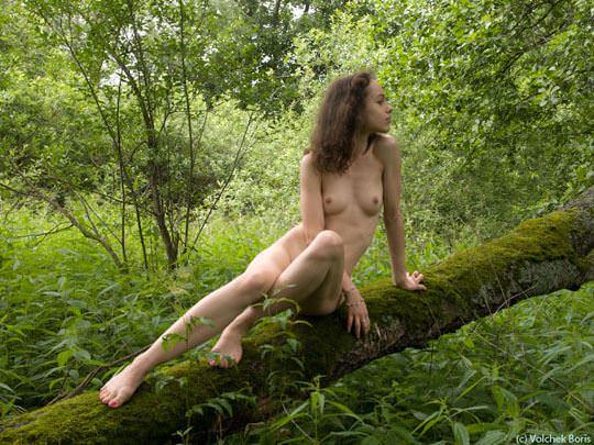 【外人】大自然でヌードグラビア撮影する妖精な白人美女達の野外露出ポルノ画像 478