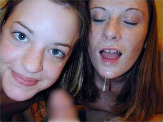 【外人】洋ティーンの素人娘の顔面にザーメンぶっかけた顔射ポルノ画像 49