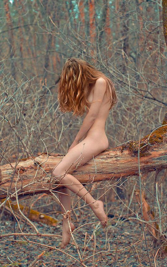 【外人】大自然でヌードグラビア撮影する妖精な白人美女達の野外露出ポルノ画像 494