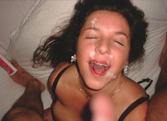 【外人】洋ティーンの素人娘の顔面にザーメンぶっかけた顔射ポルノ画像 53