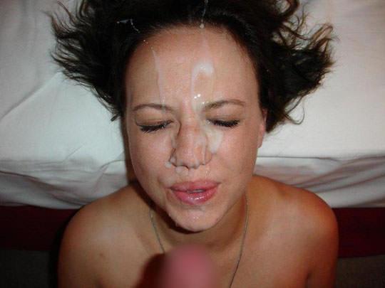 【外人】洋ティーンの素人娘の顔面にザーメンぶっかけた顔射ポルノ画像 56