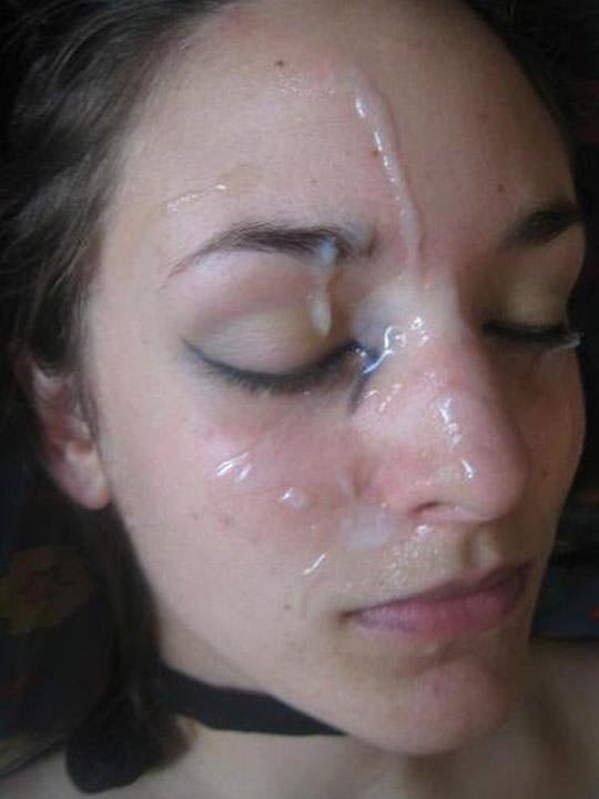 【外人】洋ティーンの素人娘の顔面にザーメンぶっかけた顔射ポルノ画像 62